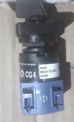 Kraus & Naimer Ammeter Rotary Switch CG4-A220 2 Position Closed/Open 10 Amp NEW