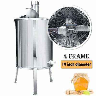 4 Frame Electric Honey Extractor Stainless Steel Beekeeping Equipment Drum 110V