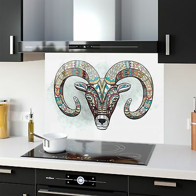 Kitchen Splashback Toughened Glass Heat Resistant Totem Goat 43223685 90x65cm