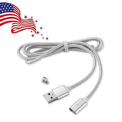 2.4A High Speed Charge Magnetic Micro USB Charging Cable /w Adapter for Android
