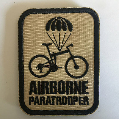 Airborne Paratrooper USA Military Embroidered 3D Decal Tactical Morale OPS Patch