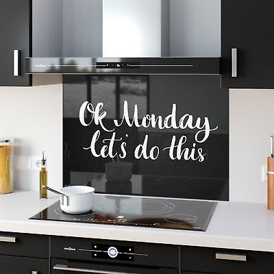 Colour Range Kitchen Glass Splashback Mondays OK 47109723 90x65cm