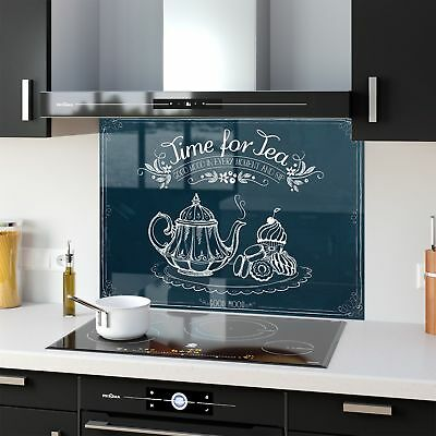 Kitchen Splashback Toughened Glass Heat Resistant Good Moment 46173867 90x65cm