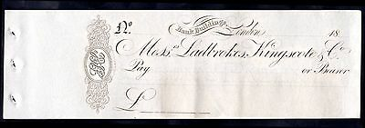 Messrs Ladbrokes, Kingscote & Co, (1830s),  Unused, with counterfoil.