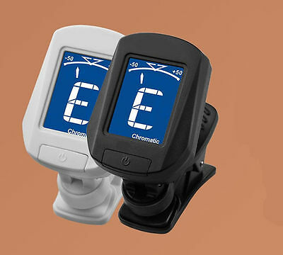 Clip-on Guitar Tuner For Electronic Chromatic Bass Violin Ukulele LCD NEW C EAU