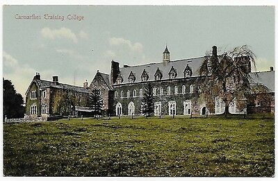 Vintage Postcard.  Carmarthen Training College.  Unused.  Ref:7430