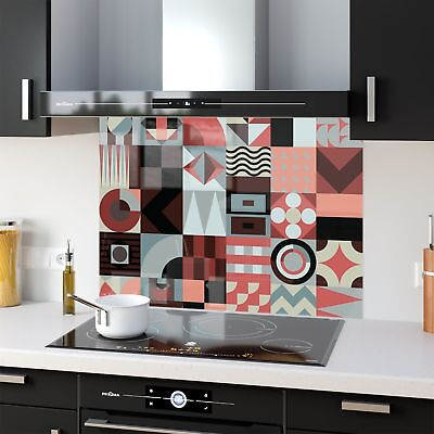 Kitchen Splashback Toughened Glass Heat Resistant Mosaic Art 66990965 90x65cm