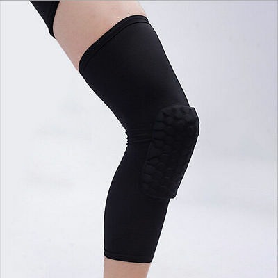 NEU Basketball Bein Knie Schutz Crashproof Langarm Gear Wabenauflage Kneepad HOT
