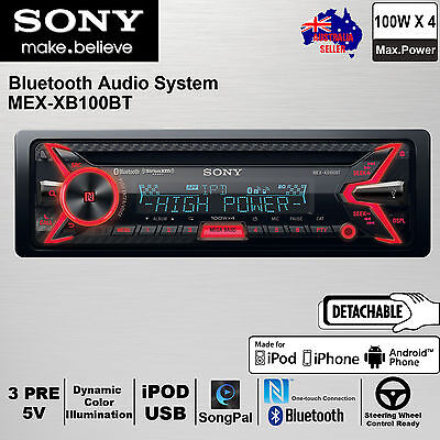 Sony MEX-XB100BT CD Receiver Bluetooth Ipod iPhone AUX IN USB Car Stereo Player