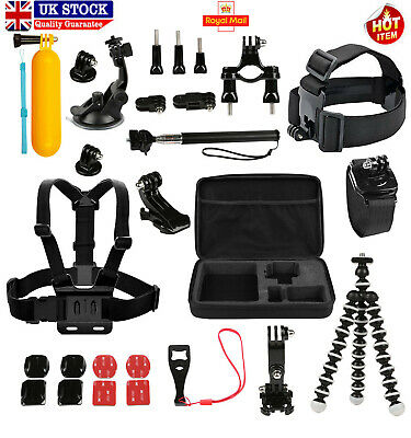 Best Accessories Kit Bundle Fit For Gopro Hero 6 5 4 3 2 1 Session Mount Combo
