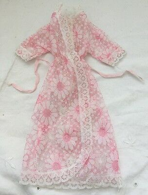 Vintage Barbie Doll Clone Knock Off Outfit PINK LACE DAISY ROBE