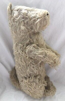 """Antique Stuffed Steiff DOG Mohair TERRIER 14"""" Tall Jointed Arms"""