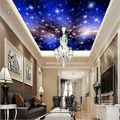 Night Sky Live Stars Full Wall Ceiling Mural Photo Wallpaper Print Home 3D Decal