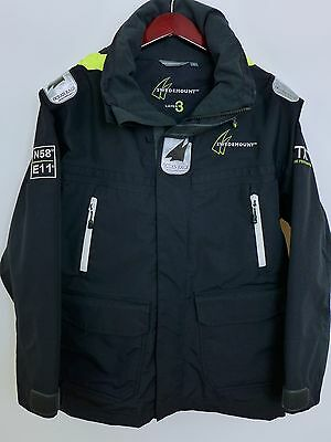 SS25 Men Swedemount 3 Layer Ocean Sailing Yachting Waterproof Jacket Size S