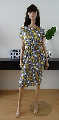 Robe vintage bleue/jaune/blanc taille 40 - uk 12 - us 8  - Made in France