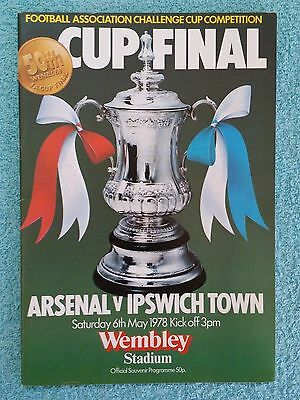 1978 - FA CUP FINAL PROGRAMME - ARSENAL v IPSWICH TOWN - V.G CONDITION