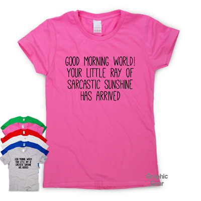 Little Ray Of Sarcastic Sunshine funny T shirt humour gift womens slogan top