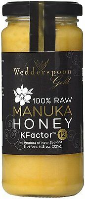 100% Raw Manuka Honey, Wedderspoon, 11.5 oz 12 Plus