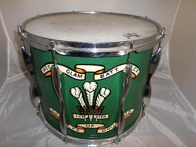 *vintage Pearl Marching Drum In Carry Case- West Glam Batt. Army Cadet Force*