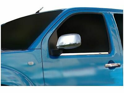 Chrome Stainless Steel Door Wing Mirror Covers 2pc Set for Nissan Navara (05-15)