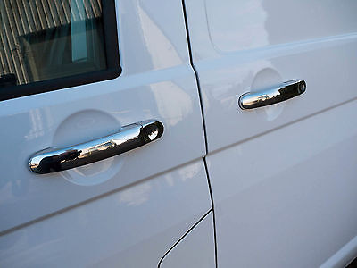 Chrome Stainless Steel Door Handle Cover 4pc Set for VW Transporter T6 (2015 on)