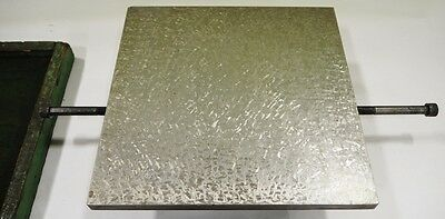 "PRECISION 11-3/4"" x 12"" x 4"" Cast Iron Surface Plate HAND SCRAPED Fixture"