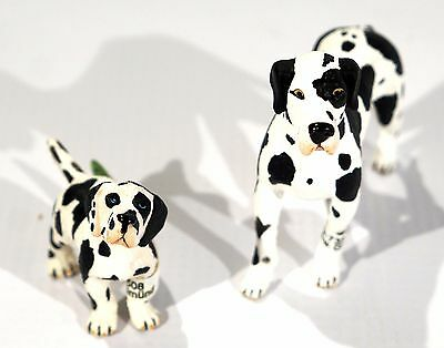 New Schleich Family of Great Danes - Female # 16384 Puppy # 16385