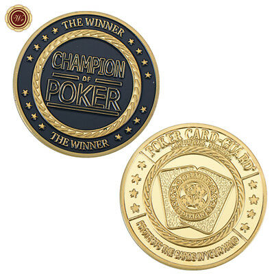 WR Poker Champion The Winner Chip Card Guard Gold Token Commemorative Gold Coins