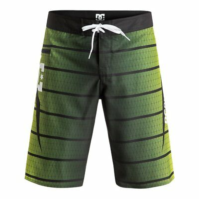 Dc Shoes Harrise 22'' Fluo Green Ss 2017 Costume New 30 32 33 34 36 38 Surf Skat