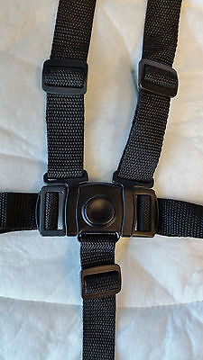 NEW Graco High Chair Seat Belt Strap 5 pt Harness Replacement BLACK