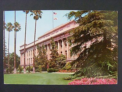 San Bernardino California County Courthouse Building Vintage Postcard 1957