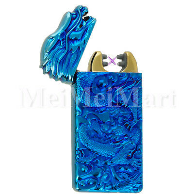 Dragon Shake Electronic Pulse Dual Arc Plasma Lighter with USB Rechargeable BL