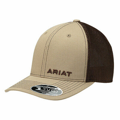 e82bbbab803 ARIAT WESTERN MENS Hat Baseball Cap Aztec Mesh Flex Fit Patch Black ...
