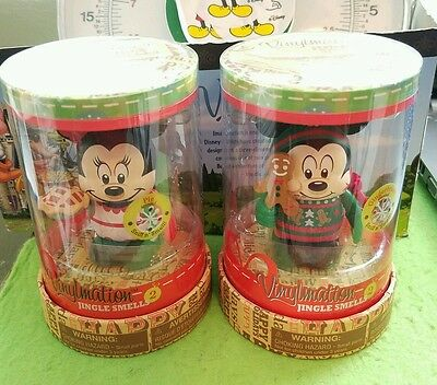 "DISNEY Vinylmation 3"" Park Set 2 Jingle Smells Lot Mickey Minnie Mouse Christmas"