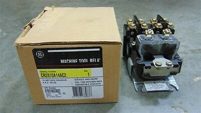 NEW General Electric CR2810A14AC2 Machine Tool Relay 10 Amp 600V 115V Coil