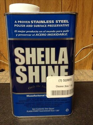1~ Sheila Shine Stainless Steel Cleaner and Polish 1 Quart Can. 5URF8. NEW