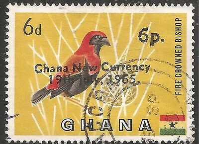 Ghana Stamp - Scott #220/A17 Surcharged in Black 6pa on 6p Canc/LH 1965