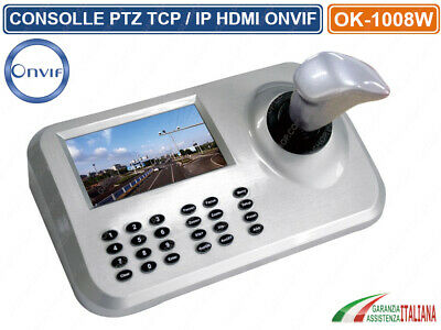 Keyboard Controller Consolle Di Comando Ptz Tcp/ip Onvif Hdmi Monitor Led 5""