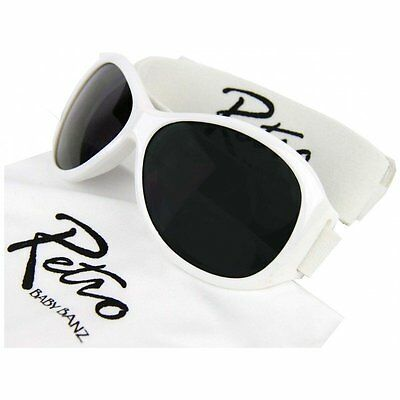 Girls Baby Banz 0-2yrs White Retro Adventurer Sunglasses 100% UVA Protection