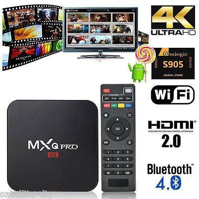 MXQ Pro Android Kodi 17.3 4k S905X 5.1 Smart TV Box Quad Core XMBC