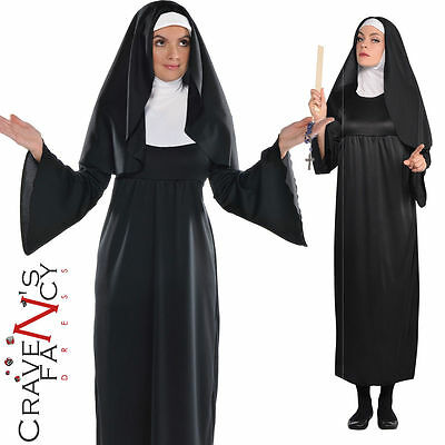 Ladies Classic Nun Costume Nuns Habit Fancy Dress Sister Hen Party Outfit New