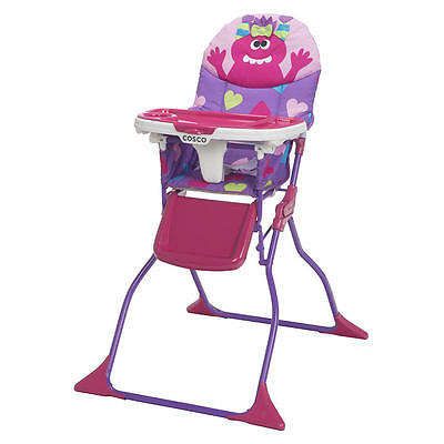 Cosco Simple Fold Deluxe High Chair - Monster Shelley