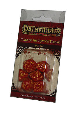 PATHFINDER-SET-DICE SET-Curse of the Crimson Thron-Tabletop-Role Playing Games
