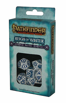 PATHFINDER-SET-DICE SET-Reign of Winter-W4,W6,W8,W10,W12,W20,W100-(00)-neu-new