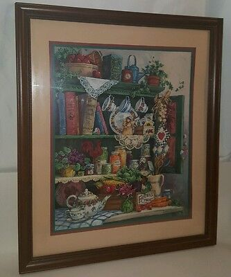 Large Home Interior Homco Farmers Market Country Cupboard Fine Art Picture