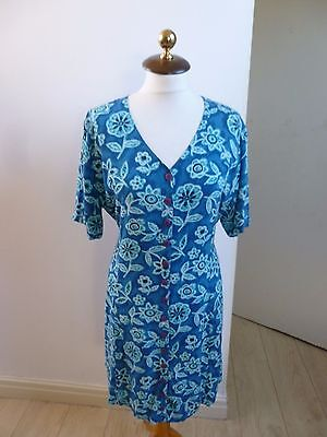 Unbranded true vintage floral tea/summer/festival/boho dress size L