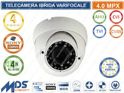 TELECAMERA DOME IBRIDA VARIFOCALE 2,8-12mm 4000 TVL 4.0MPX 2688 x 1520 36 IR LED