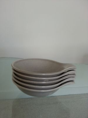 Russel Wright American Modern,Steubenville, gray fruit lug ,set of four
