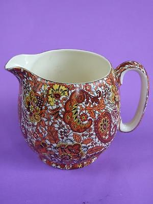 Royal Winton Grimwades Globe Jug / ChIntz Design c1930 Vintage