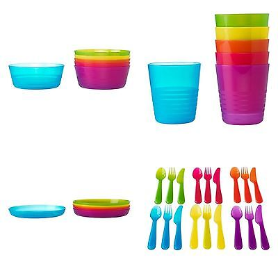 IKEA Kalas  Children's  Kids  Plastic Plate, Cups, Bowls and Cutlery Set